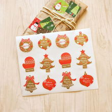 10packs/lot Christmas And Thanks Giving Day Cake Baking DIY Gift For Happy New Years Packaging Sealing Label Stickers