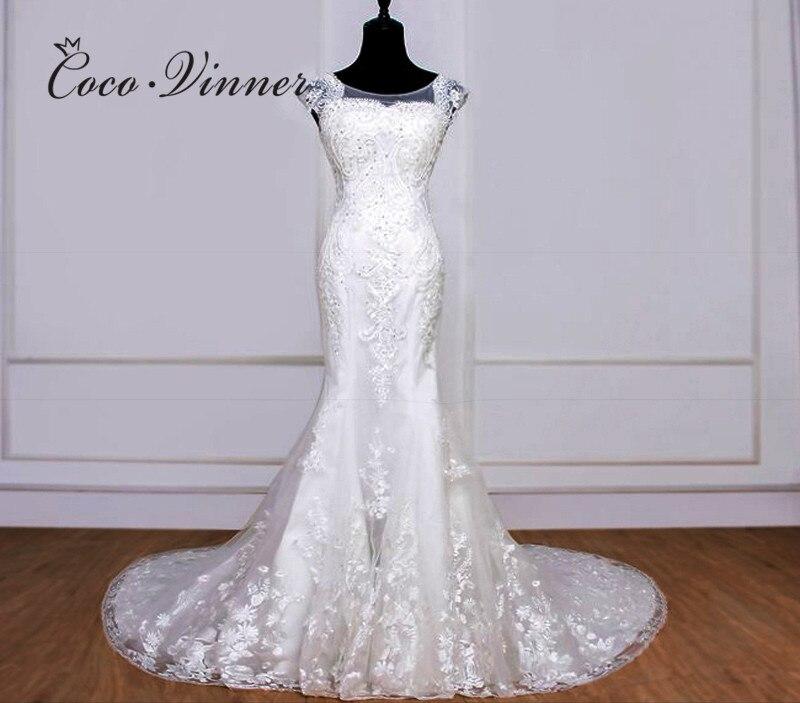 Heavy Beading Lace Vintage Mermaid Wedding Dress 2020 New Pure White Ivory Fashion Plus Size Wedding Dresses Sleeveless WX0077