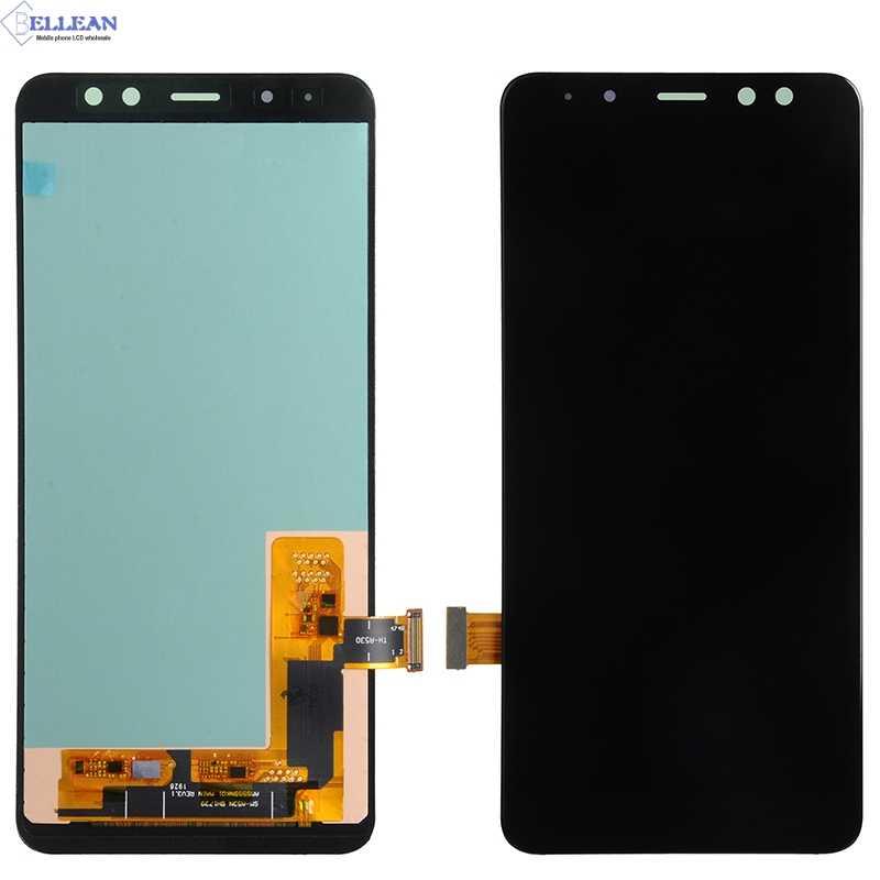 Catteny تعزيز لسامسونج غالاكسي A8 2018 Lcd A530 شاشة الكريستال السائل مع مجموعة المحولات الرقمية لشاشة تعمل بلمس استبدال مع أدوات