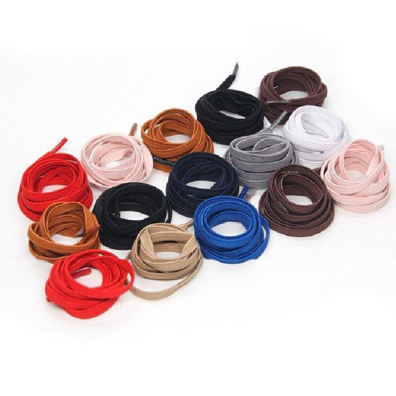 1 Pair 100cm Stretching Locking No Tie Lazy Shoelaces Elastic Rubber Shoe Laces