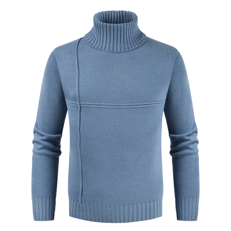 PUIMENTIUA 2019 New Autumn Winter Men's Sweater Mens Turtleneck Solid Casual Sweater Men's Slim Fit Brand Knitted Pullovers