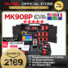 Autel MaxiCOM MK908P MS908Pรถยนต์เครื่องมือวินิจฉัยOBD2เครื่องสแกนเนอร์ECU CodingการเขียนโปรแกรมJ2534โปรแกรมเมอร์PK Maxisys Elite