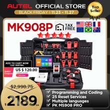 Autel MaxiCOM MK908P MS908P otomotiv araç teşhis aracı OBD2 tarayıcı ECU kodlama programlama J2534 programcı PK Maxisys Elite