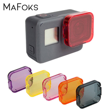 Dive Filter For Gopro 5 Professional 6 Color Diving Filter Yellow Red Purple Orange Pink Dive Lens Filter For Go pro Hero 5 6 7