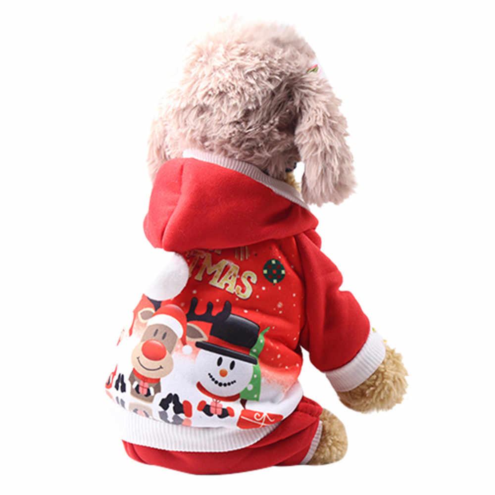 חורף חיות מחמד כלב בגדי מעיל חם חג המולד חיות מחמד גור Hoodied חולצות כלב אדום הוד בגדי תלבושות 2019 אופנה