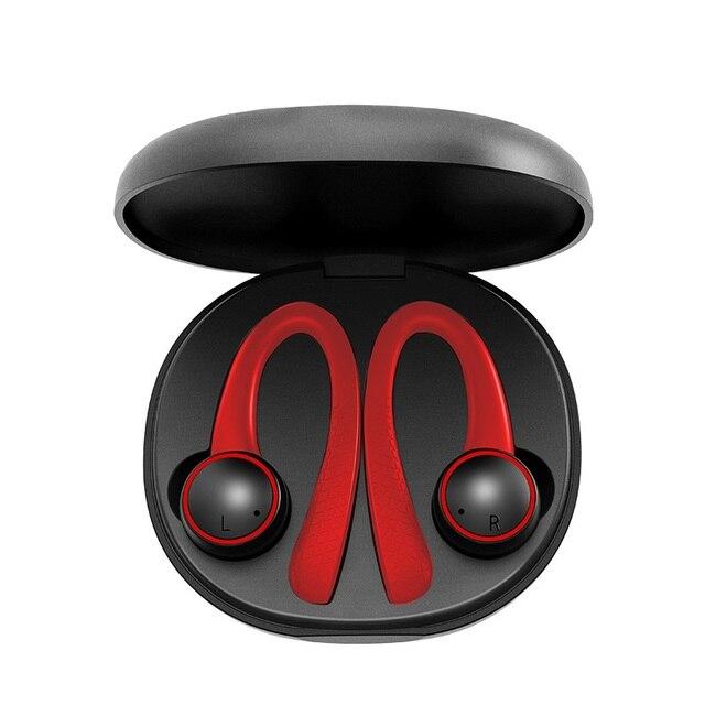 سماعات لاسلكية TWS رياضية مزودة بتقنية البلوتوث سماعة رأس ستيريو بلوتوث 5.0 من السيليكون الناعم Hifi مزودة بصندوق شحن T7 Pro للهواتف