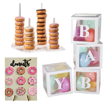 Donut Wall Stand Birthday Decoration Baby Shower Box Dount Party Doughnut Supplies Wedding Event Table Decor