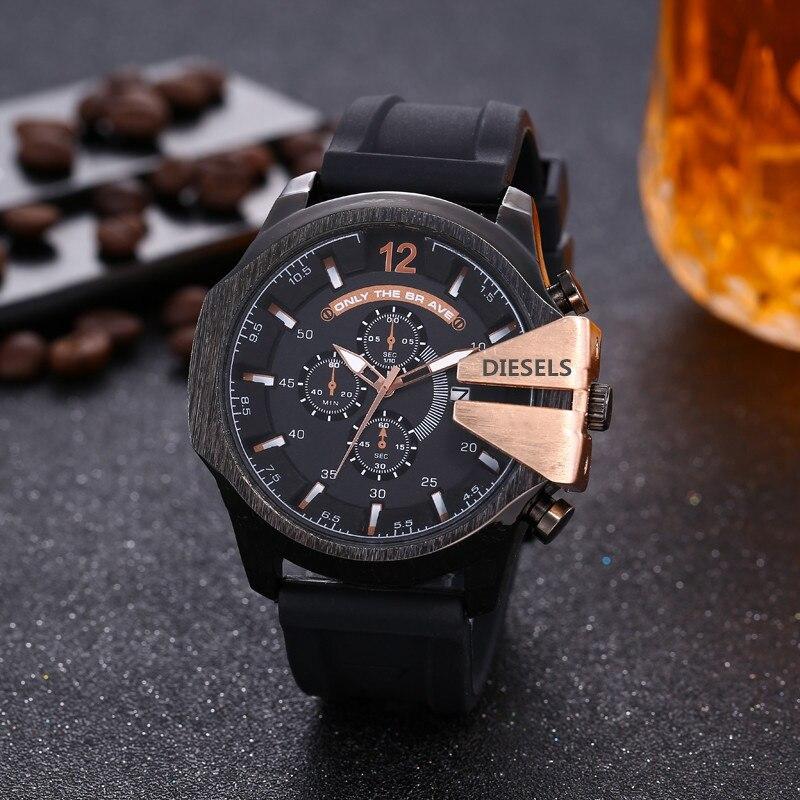 2019 reloj Christmas gift Sports Mens Watches Fashion Dial Display Watch Quartz Watch Leather Band DZ Fashion diesels watches