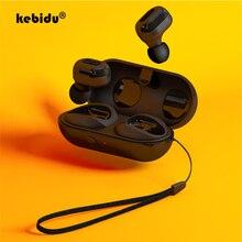 Kebidu بلوتوث 5.0 اللاسلكية سماعة سماعات أذن TWS ستيريو سماعة صغيرة في الأذن بلوتوث HiFi الألعاب سماعات ل IOS Andriod