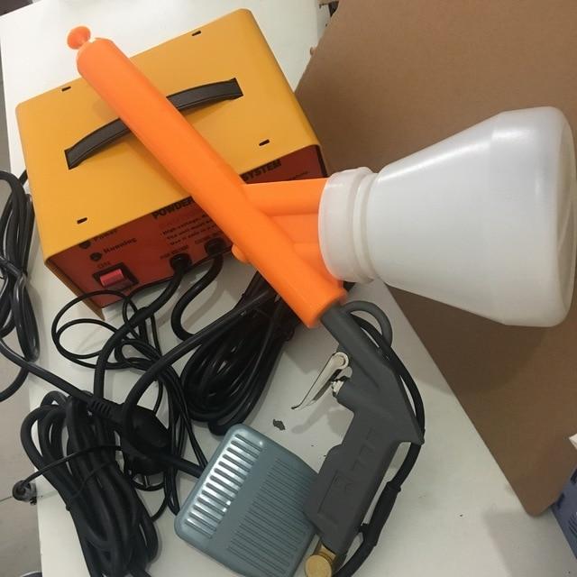 portable manual spray gun electrostatic spray powder coating gun system machinery 220V