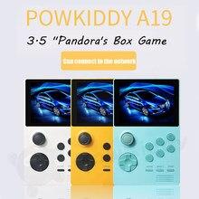 Приставка POWKIDDY A19 Pandora's Box Android Supretro портативная игровая консоль IPS экран встроенные 3000 + игр 30 3D новые игры Wi-Fi загрузка