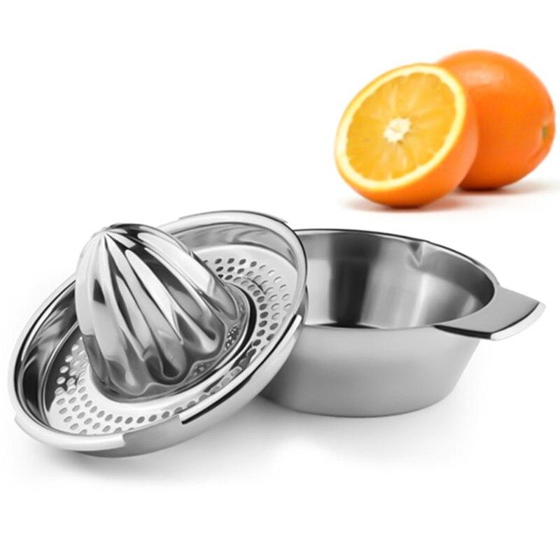 Mini Juicer Orange Handle Lemon Juicer Manual Stainless Steel Juicer Press Squeezer Citrus Juicer Mini Appliances
