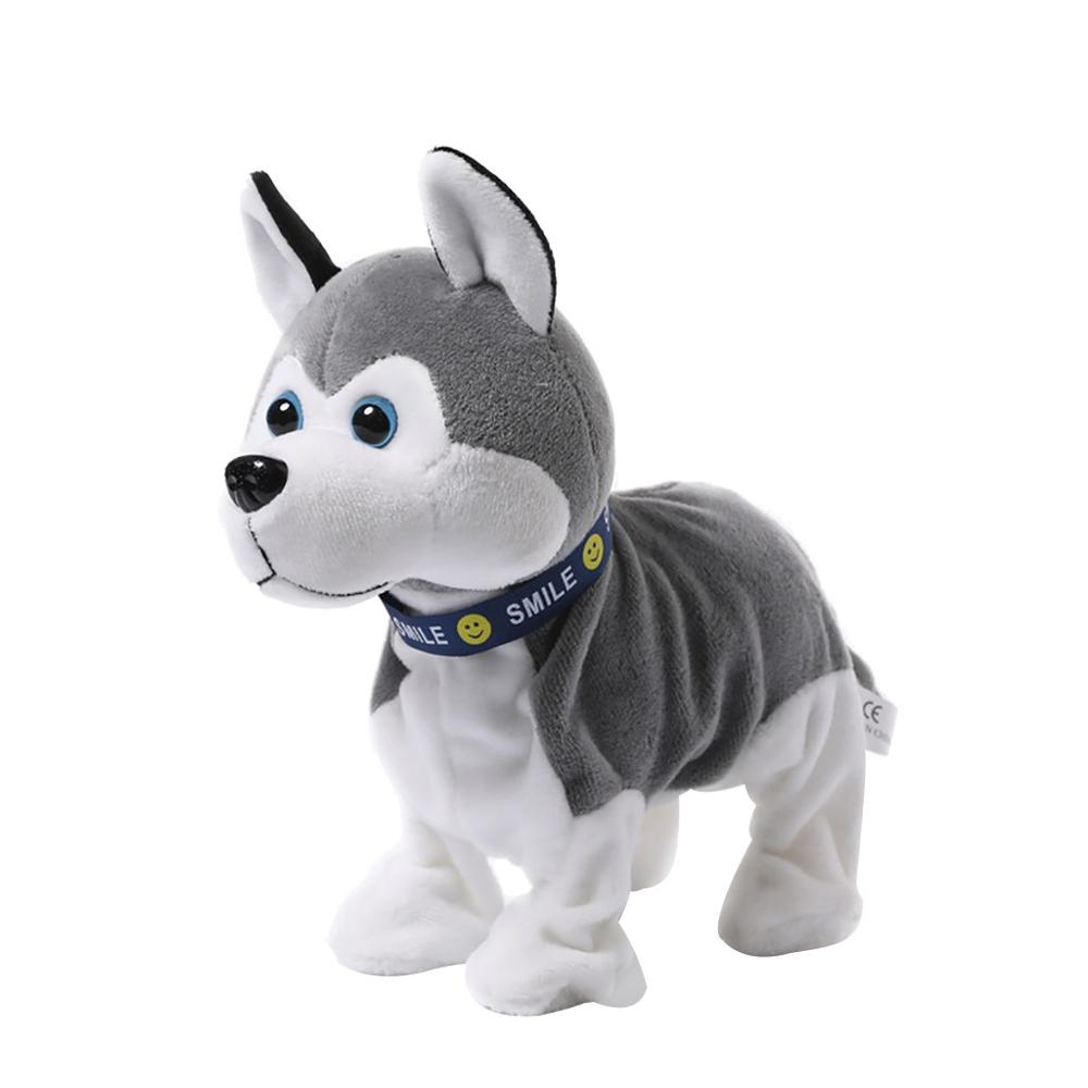 YT0022 Plush Electronic Pets   Sound Control Robot Dogs  Bark Stand Walk Cute Interactive Husky Toys For Kids Birthday Gift
