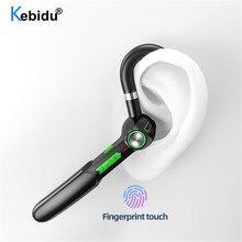 سماعة رأس لاسلكية تعمل بالبلوتوث ، بدون استخدام اليدين ، 5.0 زر ، تحكم باللمس ، تقليل الضوضاء ، سماعة رأس ستيريو