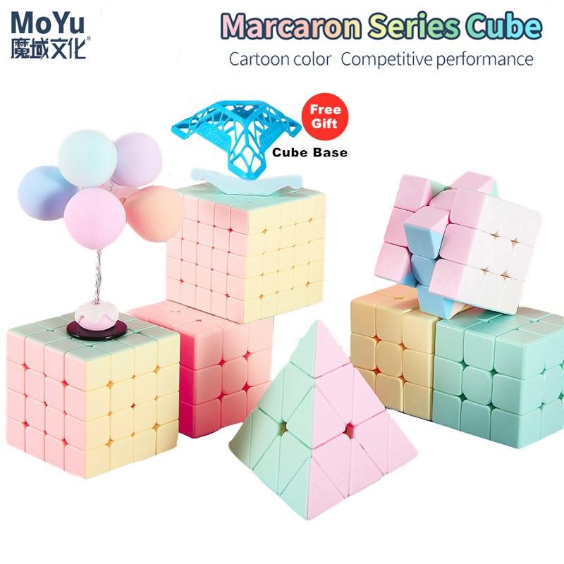 2020 mais novo macarons 2x2 3x3 4x4 5x5 pyraminxed cubo mágico 3x3x3 velocidade cubo stickerless neo brinquedo de quebra-cabeça profissional para crianças
