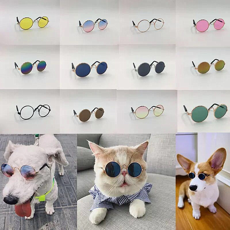 1PC Lovely Pet Cat Glasses Dog Glasses Pet Products Kitty Toy Dog Sunglasses Photos 3cm Pet Accessoires Round Colorful