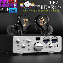 TFZ T x Bear 1/3 Balanced Armature AB Driver In-ear earphone Monitors wired headset Stereo Headset noise cancelling 2PIN Cable newest yinyoo hq6 6ba in ear earphone custom made balanced armature around ear earphone with mmcx plug earphone