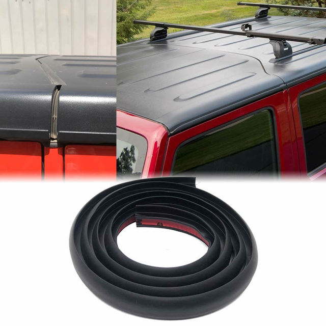Roof Flow Seal Strip for 2007 2020 Jeep Wrangler JK JL Waterproof Dustproof Reduce Noise Sun Resistant Durable Silicone Strip