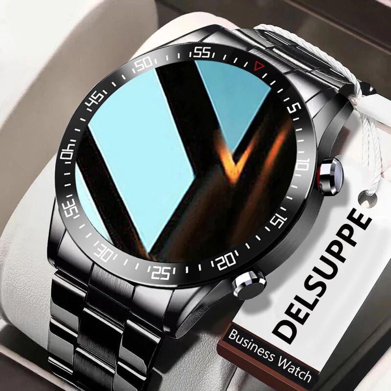 2021 חדש גברים חכם שעון קצב לב לחץ דם IP68 עמיד למים ספורט כושר שעון יוקרה חכם שעון זכר עבור iOS אנדרואיד