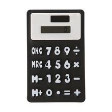 Foldable Soft Silicone Handheld Scientific Solar Calculator For School Office