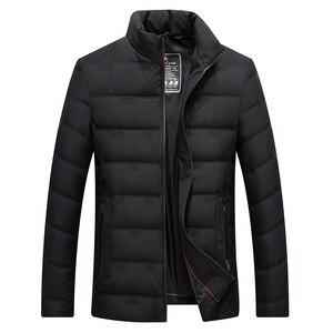 Image 5 - ผู้ชายเป็ดสีขาวลงเสื้อแจ็คเก็ตฤดูหนาว Slim Hooded Down Coat Selected Feather เสื้อผ้าสำหรับชาย 9231 ใหม่ 2019