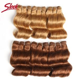 Гладкие бразильские волнистые человеческие волосы Remy, два цвета, 4/27 #27 цветов 30 # гамбургерские пряди для наращивания волос, 3 шт.