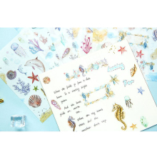 цена на 1pcs/lot Lovely Underwater world cartoon Label Decorative Stationery Stickers Scrapbooking DIY Diary Album toy Sticker