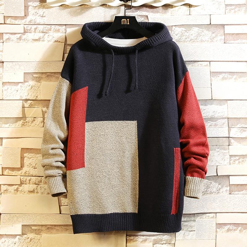 Suéteres de Navidad para hombre ropa de invierno 2019 de talla grande M-4XL asiático 5XL estilo japonés Casual estándar de diseño jerseys Suéter de invierno para hombre suéter informal hombre ajustado Jersey de punto