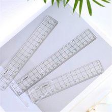 1 Uds 15cm 18cm 20cm transparente Simple regla reglas para acrílico estilo Simple aprendizaje papelería dibujo suministros
