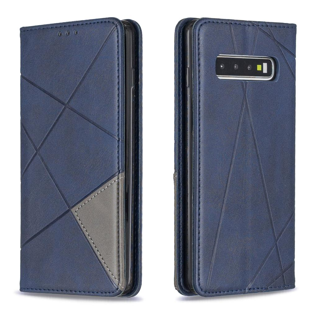 For <font><b>Samsung</b></font> Galaxy S10e S10 <font><b>S9</b></font> Note 10 Plus Luxury Leather <font><b>Diamond</b></font> Grid Splice Flip Wallet Stand Phone <font><b>Case</b></font> Magnetic Cover Bag image