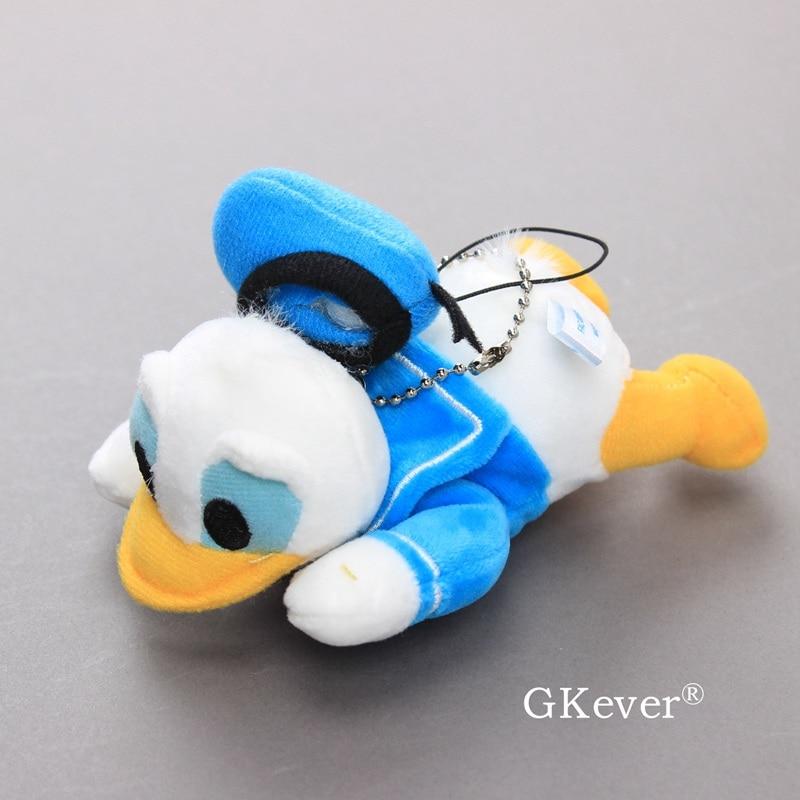 12 Cm Donald Duck Keychain Kawaii Plush Stuffed Animals Toys Doll Cartoon Figure Children Girl Baby Kids Christmas Birthday Gift