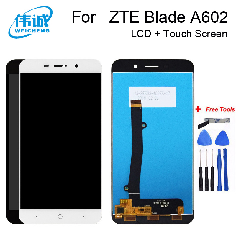 WEICHENG Good Quality for <font><b>ZTE</b></font> <font><b>Blade</b></font> <font><b>A602</b></font> <font><b>LCD</b></font> <font><b>Display</b></font> and touch Screen 100% tested for <font><b>ZTE</b></font> <font><b>A602</b></font>+Free Tools image
