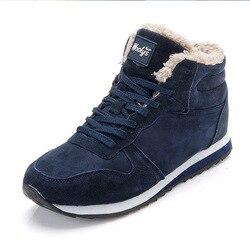 Homens sapatos de inverno para homens botas de inverno moda tênis de inverno botas de neve mais tamanho botas de tornozelo botines hombre preto azul mans calçado