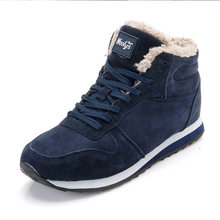 Men Winter Shoes For Men Boots Fashion Winter Sneakers Snow Boots Plus Size Ankle Boots Botines Hombre Black Blue Mans Footwear(China)
