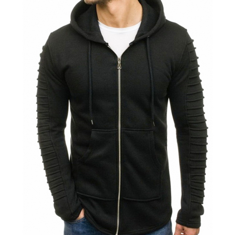 NIBESSER Casual Hoodies Zipper Sweatshirts Male 2019 Long Sleeve Pocket Hoodie Men Tracksuit Hip Hop Cotton Pullover Jacket