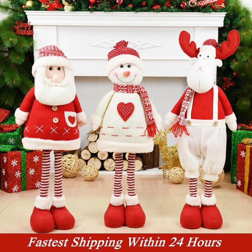 Figuras papai noel boneca decorações de natal para casa feliz natal enfeites natal natal decoração do jardim navidad ano novo
