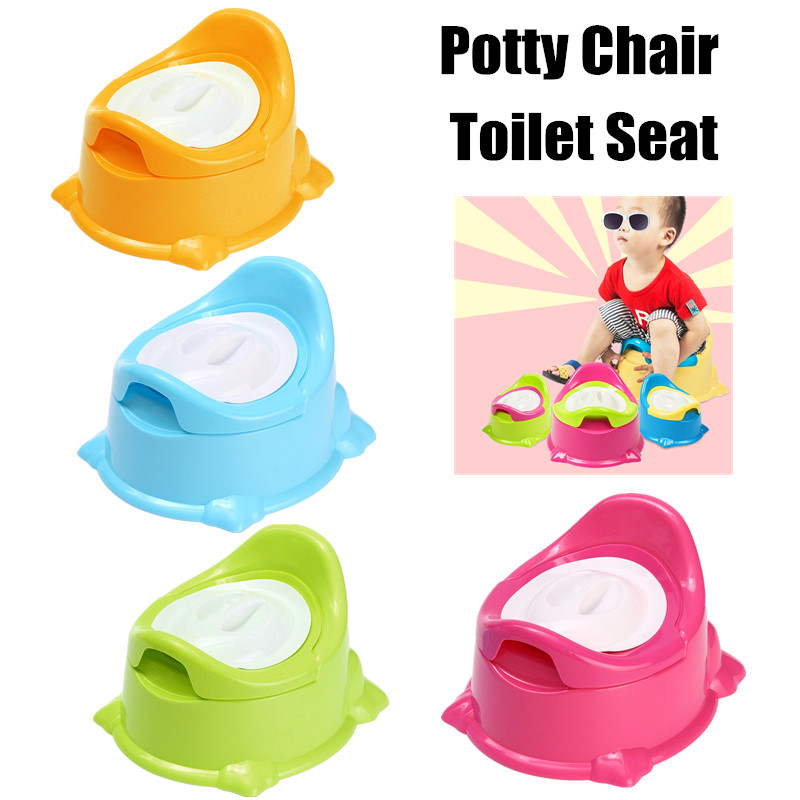 Portable Infant Chamber Pots Toilet Baby Travel Plastic Toilet Seat Kids Travel Folding Chair Training Potty Ring With Urine Bag
