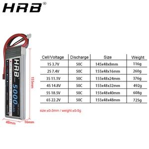 Image 3 - Hrb 5000 2600mahの 11.1vリポバッテリー 14.8v 50C tディーンズXT60 EC5 7.4v 2s 3s 18.5v 22.2 用fpv飛行機ボート 4WD車のラジコンパーツ 4 4s 5 5s 6s