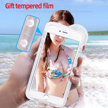 Waterproof swimming Diving mobile phone case touch screen for iphone XR XS Max 6 7 8Plus waterproof mobile phone case цена 2017