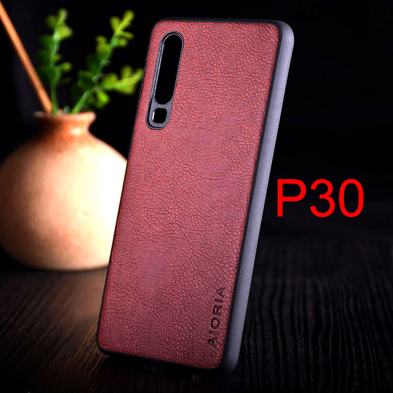 Image 3 - Case for huawei p30 lite pro funda luxury Vintage Leather skin with TPU + PC  hard cover for huawei p30 lite pro case coque capa