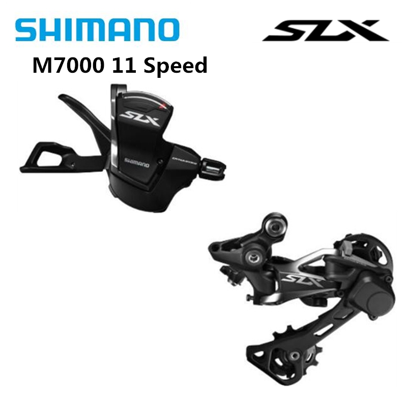 <font><b>SHIMANO</b></font> <font><b>SLX</b></font> <font><b>M7000</b></font> <font><b>11</b></font> Speed Mountain Bicycle Bike Parts 11s MTB Bike Bicycle Original Trigger Shifter + Rear derailleur GS image