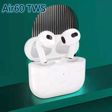2021 New Air60 TWS Wireless Bluetooth Earphone Light Sensor in-Ear Earbuds With Charging Case PK i99999 i90000 i999999 air21 30