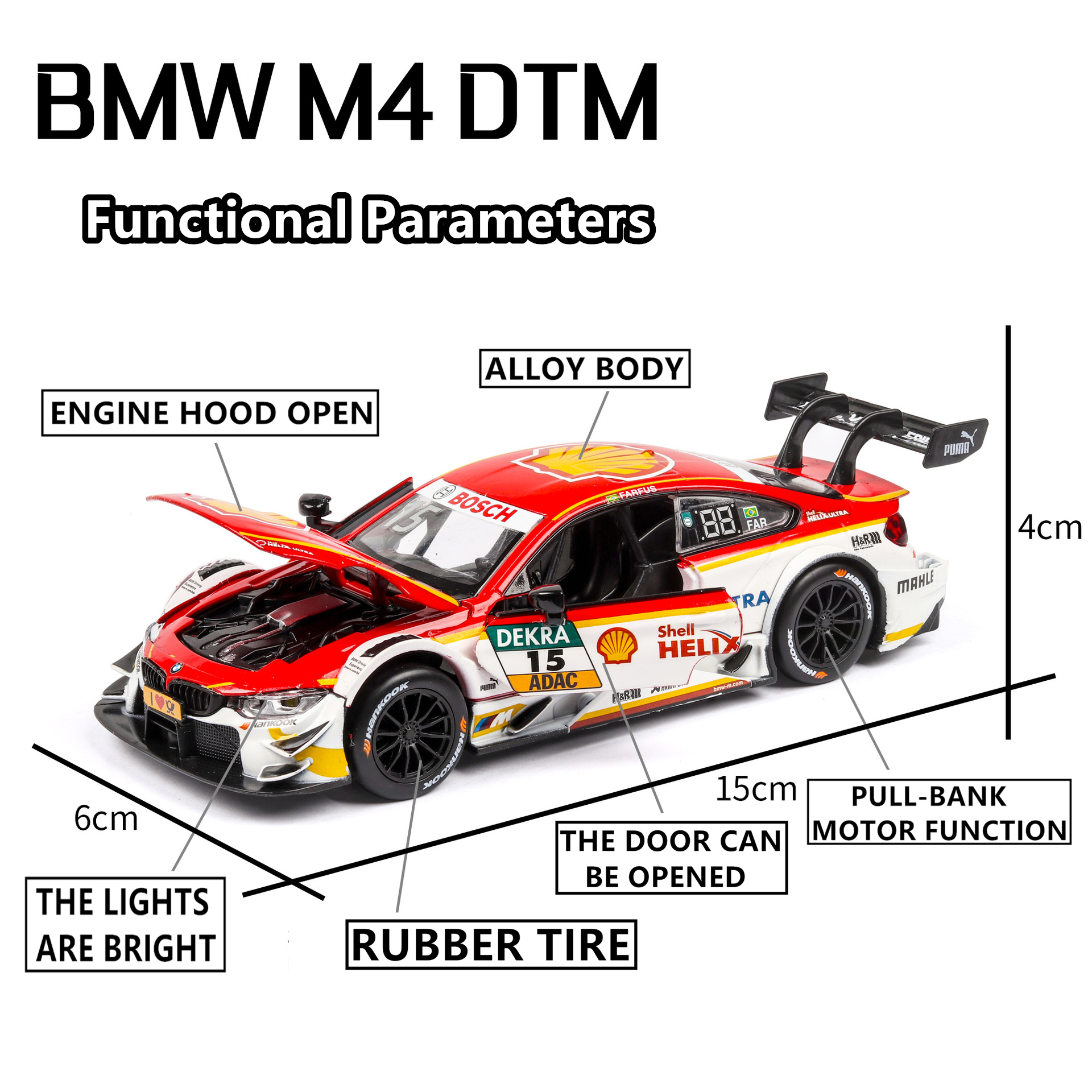 1 32 BMW M4 pull flower with sound and light alloy children 39 s toy sports car model collection gift pull back vehicle in Diecasts amp Toy Vehicles from Toys amp Hobbies