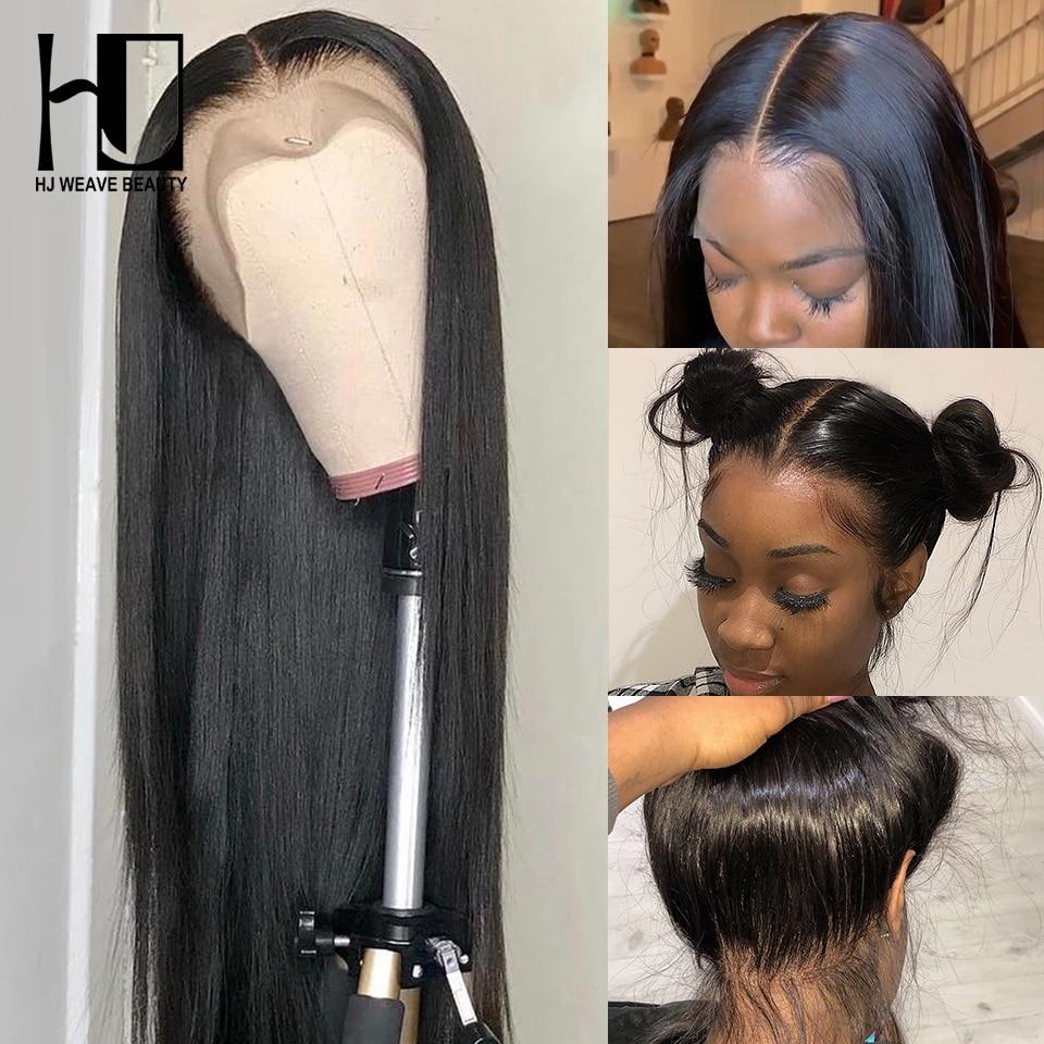 360 peruca frontal do laço 250% densidade cabelo virgem brasileiro em linha reta perucas de cabelo humano para as mulheres negras pré arrancadas com o cabelo do bebê