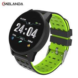 Image 1 - スポーツスマート腕時計男性女性血圧防水アクティビティフィットネストラッカー心拍数モニタースマートウォッチandroid ios