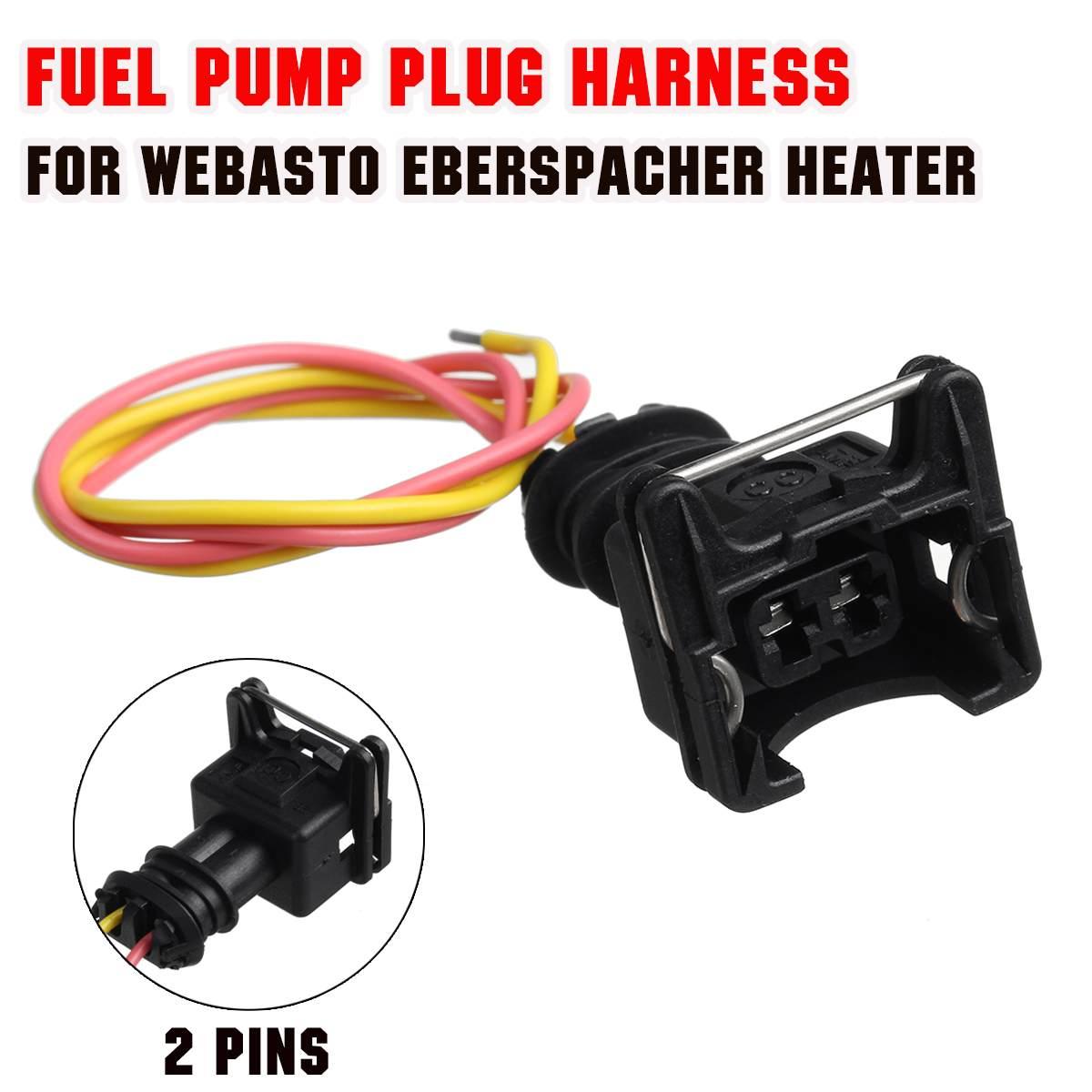 Car Heater Fuel Pump Plug Wire Harness Connector 2 Pin For Webasto Eberspacher Air Diesel Heater Accessories