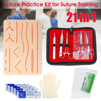 Medical Suture Training Kit Skin Suture Practice Model Training Pad Set Suture Needle Scissors Tweezers Doctor Nurse Teaching
