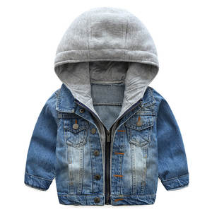 Jackets Clothing Boys Winter Children's Denim Hooded Baby Kids for Autumn Trench Outerwear