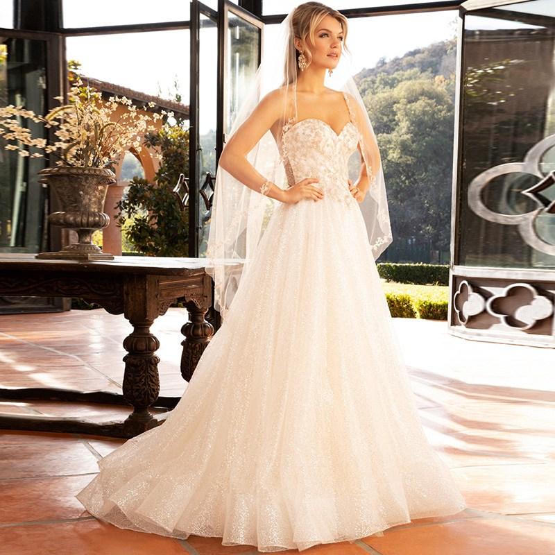 Custom Made Court Train Princess Bridal Ball Gown Luxury Diamond Strapless Robe De Mariée Wedding Dress