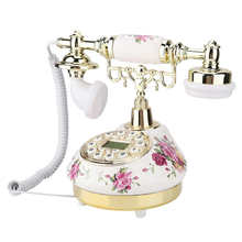 الهاتف الثابت الرجعية الهاتف الثابت خمر الهاتف العتيقة سطح المكتب حبالي الهاتف الثابت FSK و DTMF معرف المتصل الهاتف للمنزل مكتب الفندق